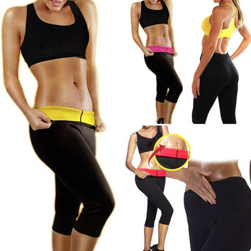 New Fashion Women Hot Neoprene Body Shaper  Lose Fat  Slimming Waist Pants Slim Belt Yoga Clothes = 1932538436