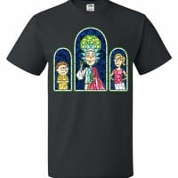 Rick And Morty Stain Glass Unisex T-Shirt