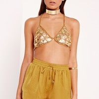 Missguided - Peace + Love Satin Runner Shorts Chartreuse