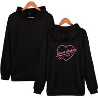 Kpop Twice Zipper Hoodies Coats Women Men Fashion Korean Harajuku Fans Supportive Hoodie Sweatshirt Twice Album Fleece Tracksuit