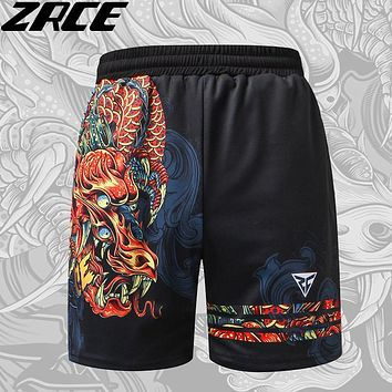 ZRCE Shorts Men Fashion Summer Beach Causal Fitness 3d Print Shorts Brand Clothing Loose Fashion Mens Pattern Funny Trousers