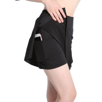 Annjoli Womens Running Skorts Golf Tennis Workout Skirt