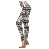 """A Touch of Heaven""  Boho Elephant Print Leggings"