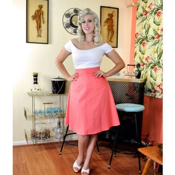 Heart of Haute A-line Skirt Coral Honeycomb Skirt