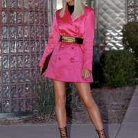 Beena Pink Blazer Fashion Dress