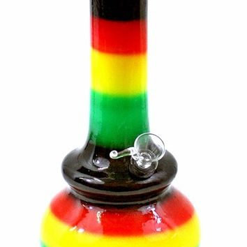 Twisted Ceramic Rasta Genie Water Pipes   Smoked Out Pipes Smoke Shop