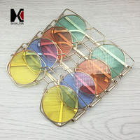 SHAUNA Fashion Golden Hollow Out Metal Frame Women Cateye Sunglasses Retro Ladies Tint Lens Eyewear Steet Beat