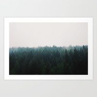 Forest Art Print by Hannah Kemp