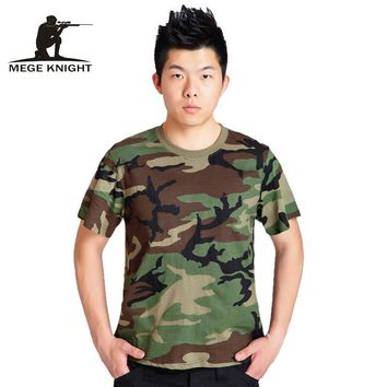 Summer  Camouflage T-shirt Men Breathable Army Tactical Combat T Shirt Military Dry Camo Camp Tees