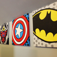 CUSTOM Made to Order Superhero/Video Game/Comic Paintings