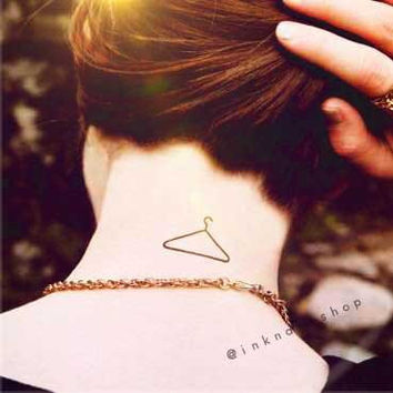 2pcs Fashion Hangers  - InknArt Temporary Tattoo -  script couple lover temporary tattoo wrist neck ankle