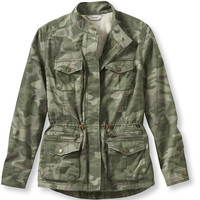 Women's Lined Freeport Field Jacket, Camo Print