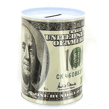 20 50 100 Dollar Bill Tin Money Bank ( Case of 24 )