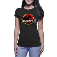 Toothless How to Train Your Dragon Useless Reptile Jurassic Park IFO Tshirt for Women Black and White