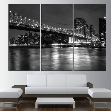 New York City Manhattan Skyline wall art Brooklyn Bridge canvas print wall art, Manhattan skyline canvas, new york wall art print t467