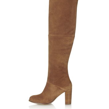 BELL Thigh High Boots - Topshop