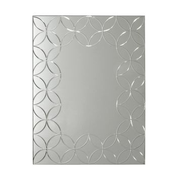 Geo Chic Rectangle Wall Mirror 22X28 (8905) - Illuminada