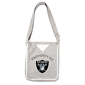 NFL Oakland Raiders Women's Hoodie Crossbody Handbags, 9.5 x 2.25 x 11.5-Inch, Gray