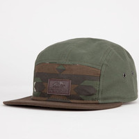 Vans Davis Mens 5 Panel Hat Camo Green One Size For Men 22503653301