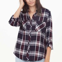 Thread and Supply Myzel Plaid Button Up Shirt for Women TSTPG7060