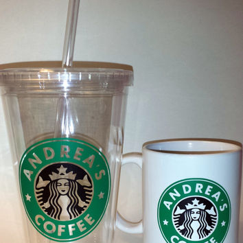 """Personalized """"Starbucks""""-Like Coffee Cup or Tumbler"""