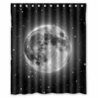 Custom New The Moon Waterproof Bathroom Shower Curtain 60 x 72 Inch
