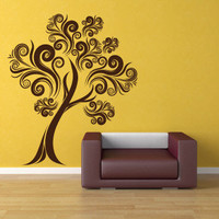 Curvy Tree Vinyl Wall Decal Sticker Graphic by laras4labs on Etsy