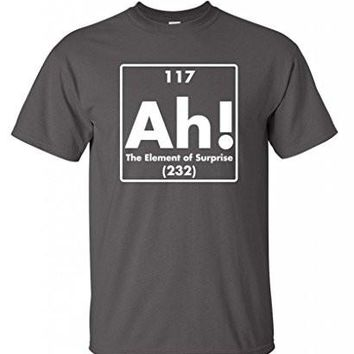 Ah! The Element Of Surprise Science Gift Idea Novelty Geek Mens Funny T Shirts