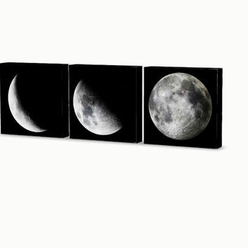 Moon Phases Wall Hanging 3 Piece Set, Ready to Hang! Wall decor