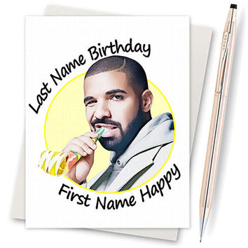 Drake Birthday Card Funny Birthday Card From Inlivingcolorstudi