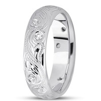 0.20ctw Diamond 14K Gold  Wedding Band (6mm) - (F - G Color, SI2 Clarity)