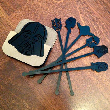 Star Wars coasters Darth Vader coasters laser cut Star Wars coasters Star Wars drinks stirrers Coasters Star Wars Star Wars Acrylic Coasters