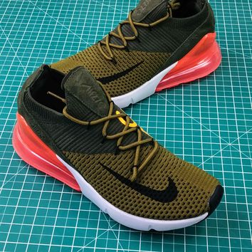 Nike Air Max 270 Olive Red Ao1023-003 Sport Running Shoes - Best Online Sale
