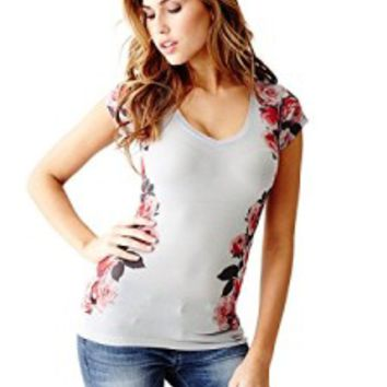 GUESS Women's Finn Floral Tee | T-shirt Club