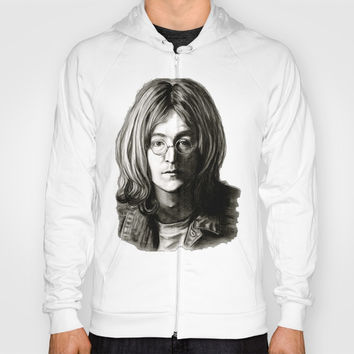 John in Black and White Hoody by GittaG74