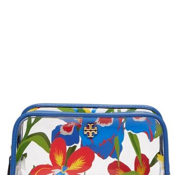 Tory Burch Iris Print Cosmetic Case | Nordstrom
