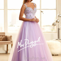 Illusion Straps Sweetheart Prom Ball Gown By Mac Duggal 48262H