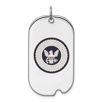Sterling Silver US Navy Tag