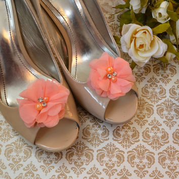 Coral Flower shoe clips