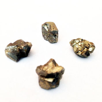 Pyrite Beads, Fools Gold Nugget, Stone Bead, Semiprecious Gem, Natural Cut, Rough Shape, Irregular size, Square Shape, Cube Bead, Gemstone