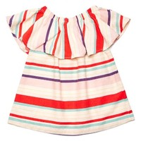 Margherita Ruffle Shirt (Toddler Girls, Little Girls & Big Girls) | Nordstrom