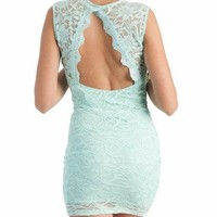 lace dress $34.00 in OFFWHITE PEACH PISTACHIO - Lace | GoJane.com