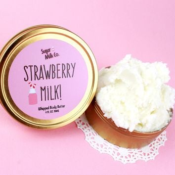 Strawberry Milk Whipped Body Butter