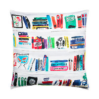 Kate Spade Silk Bookshelf Pillow Multi ONE