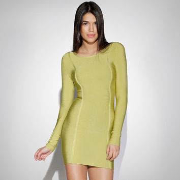 Women's Fashion Long Sleeve Slim Bandages Dress [4919880516]