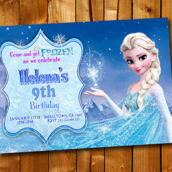 Frozen Birthday Invitation Beautiful, Birthday Invitation for little boy and little girl