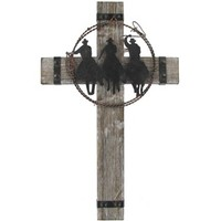 White Wash Cross with 3 Cowboys | Shop Hobby Lobby