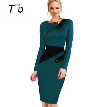 Summer Elegant Vestidos Party Cocktail Rockabilly Casual office Lady Work Business Tunic Bodycon Sheath Pencil Office Dress 43