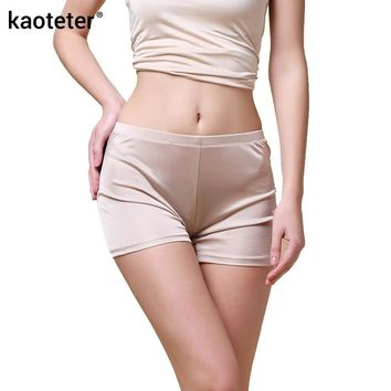 100% Silk Women's Panties Women Seamless Knickers Ladies Sexy Underwear Femme Lingerie Calcinh Calzoncillos Woman Underpants