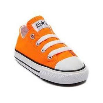 converse kids chuck taylor all star core ox infant toddler neon orange toddler 1 4